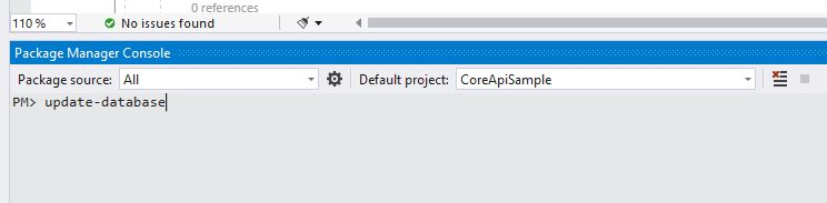 Webapi using EF Core 3.0