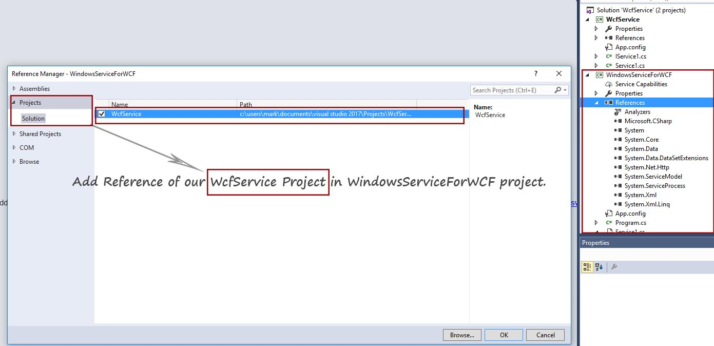 Add Reference in VS 2017 RC
